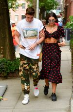 DUA LIPA and Isaac Carew Out in New York 06/18/2018