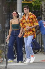 DUA LIPA and Isaac Carew Out in New York 06/19/2018