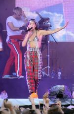 DUA LIPA Performs at a Concert in Warsaw 06/01/2018