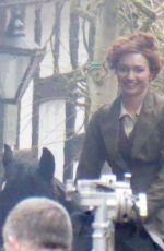 ELEANOR TOMLINSON on the Set of War of the Worlds in Cheshire 06/09/2018