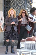 ELISABETH MOSS on the Set of The Kitchen in New York 06/25/2018