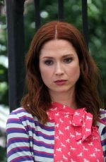 ELLIE KEMPER and BUSY PHILIPPS on the Set of Unbreakable Kimmy Schmidt 06/16/2018