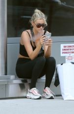ELSA HOSK in Tights Leaves a Gym in New York 06/14/2018