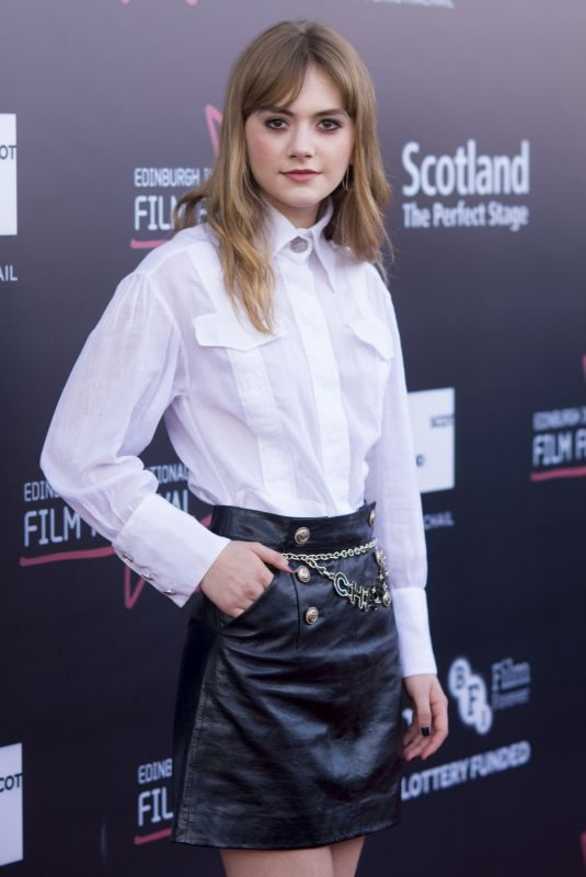 EMILIA JONES at Two for Joy Premiere at Edinburgh International Film Festival 06/23/2018