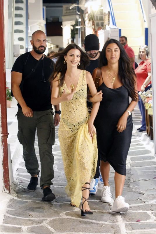 EMILY RATAJKOWSKI Out in Mykonos 06/29/2018