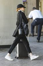 EMMA STONE at a Train Station in New York 06/14/2018