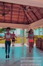 EMMANUELLE CHRIQUI Exercising at a Resort in Mexico 06/25/2018