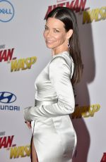 EVANGELINE LILLY at Ant-man and the Wasp Premiere in Los Angeles 06/25/2018