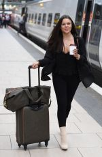 FAYE BROOKES at Manchester Piccadilly Train Station 06/02/2018
