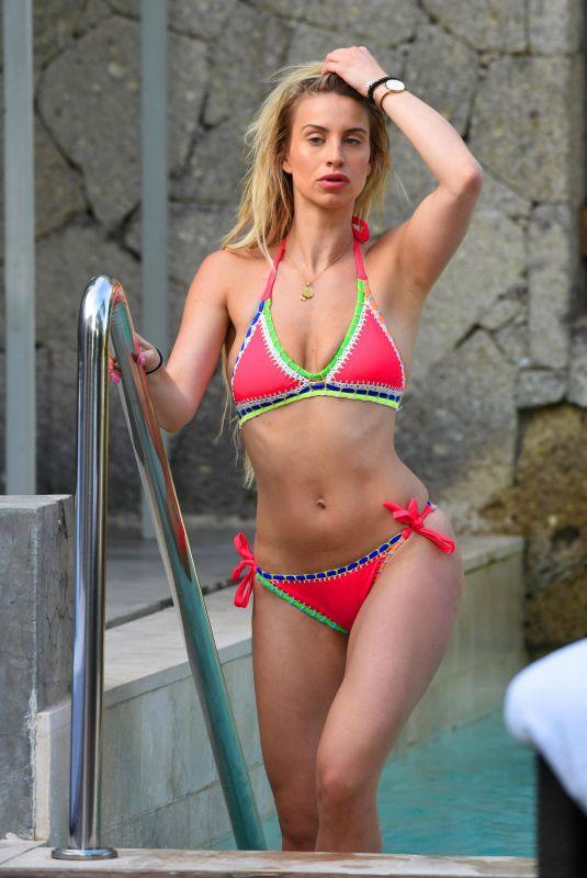FERNE MCCANN in Bikini at a Pool in Majorca 05/04/2018