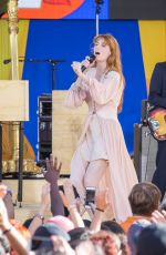 FLORENCE WELCH Performs at God Morning America Concert Series in Central Park in New York 06/29/2018