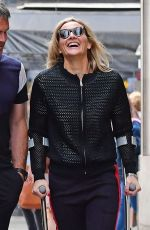 GABBY LOGAN Out and About in London 06/01/2018