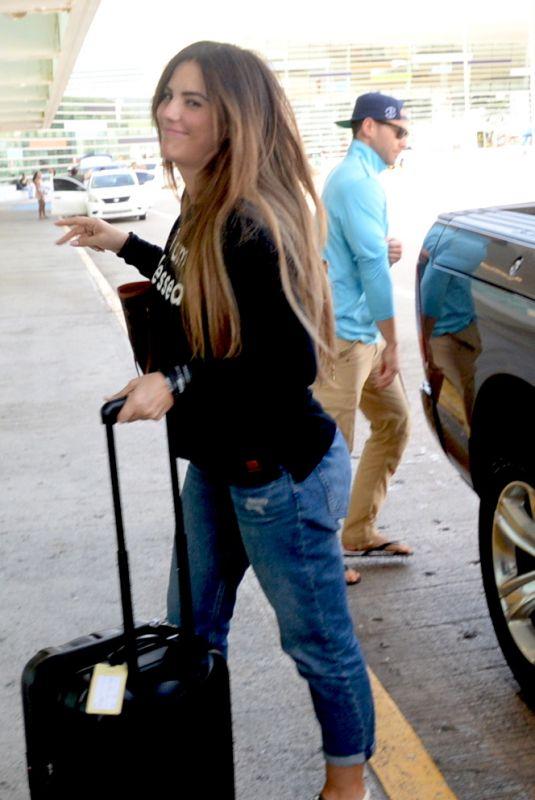 GABY ESPINO at LMM Airport in San Juan 06/19/2018