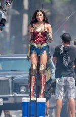 GAL GADOT on the Set of Wonder Woman 1984 in Wahington D.C. 06/18/2018