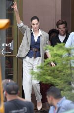 GAL GADOT on the Set of Wonder Woman 1984 in Wahington D.C. 06/27/2018