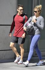 GEMMA ATKINSON and Gorka Marquez Leaves a Gym in Manchester 06/07/2018