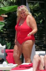 GEMMA COLLINS in Swimsuit at a Pool in Spain 05/27/2018