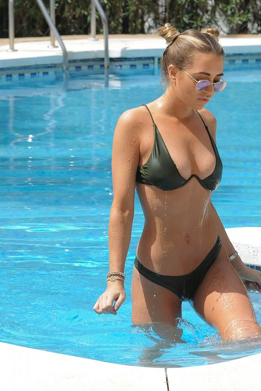 GEORGIA HARRISON in Bikini at a Pool in Marbella 06/09/2018