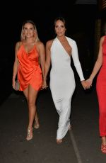 GEORGIA KOUSOULOU, AMBER DOWDING and CHLOE SIMS Arrives at Amber