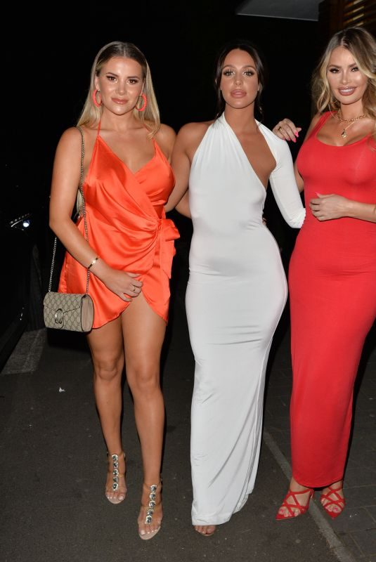 GEORGIA KOUSOULOU, AMBER DOWDING and CHLOE SIMS Arrives at Amber's Birthday Party in London 06/23/2018