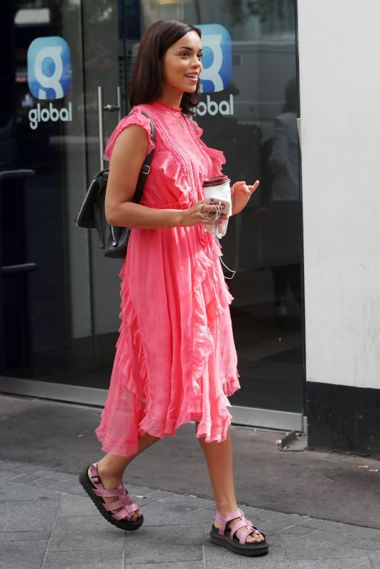 GEORGINA CAMPBELL Arrives at Global Radio in London 06/27/2018