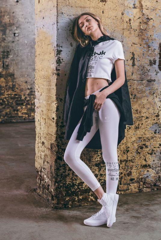 GIGI HADID for Adidas Freestyle Hi Nova, June 2018