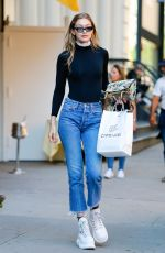 GIGI HADID in Jeans Out in New York 06/04/2018