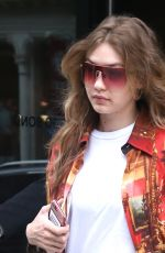 GIGI HADID Leaves Her Apartment in New York 06/01/2018