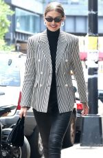 GIGI HADID Leaves Her Apartment in New York 06/07/2018
