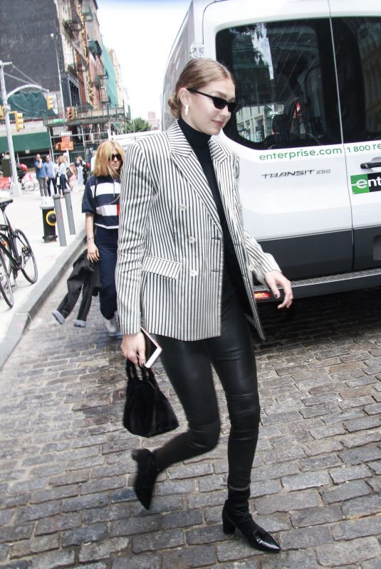 GIGI HADID Out and About in New York 06/07/2018