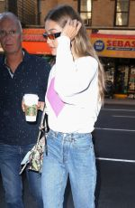 GIGI HADID Out and About in New York 06/19/2018