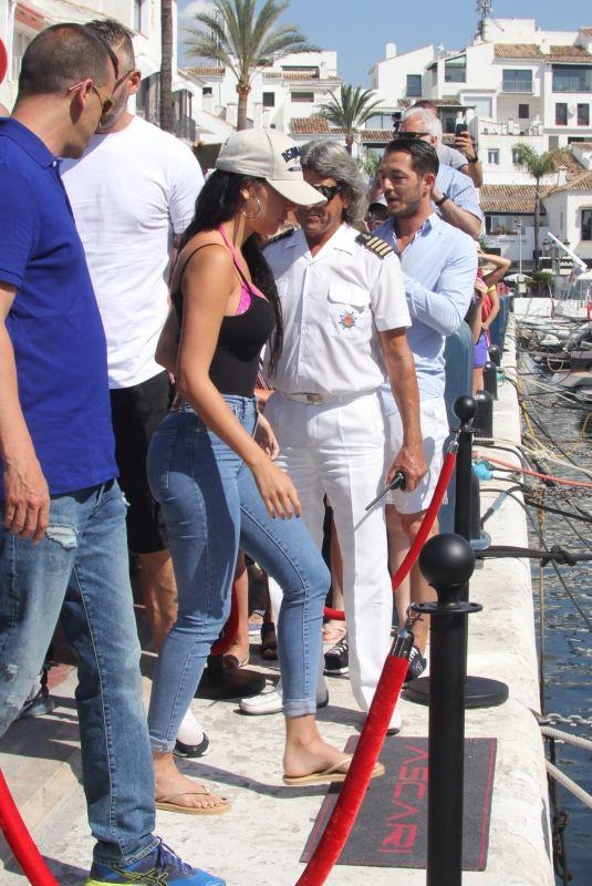 GINA RODRIGUEZ and Cristiano Ronaldo Arrives at a Boat in Marbella 06/01/2018