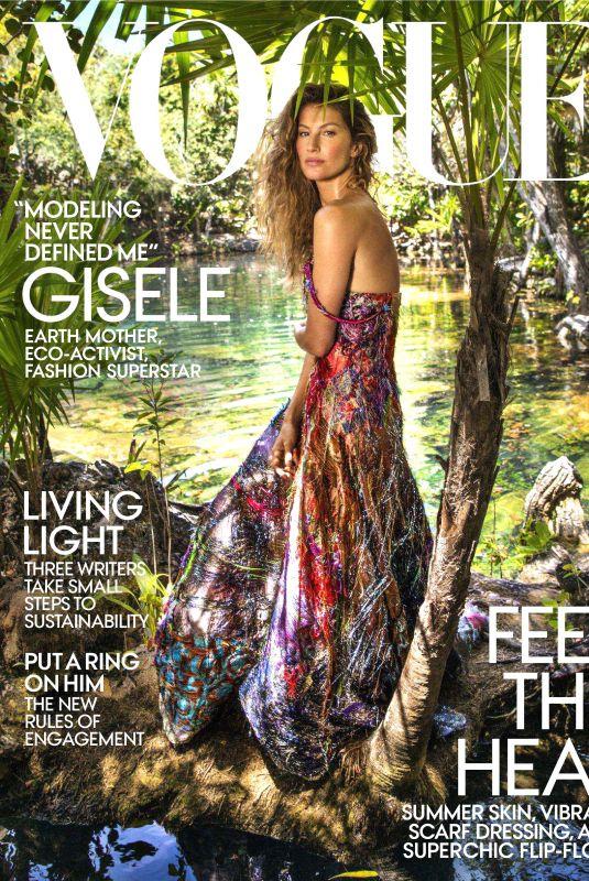 GISELE BUNDCHEN in Vogue Magazine, July 2018 Issue
