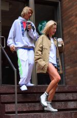 HAILEY BALDWIN and Justin Bieber Out in New York 06/13/2018