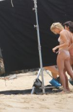 HAILEY BALDWIN in Swimsuit on the Set of a Photoshoot at a Beach in Hawaii 05/31/2018
