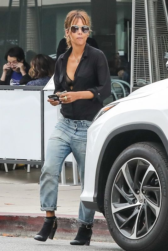 HALLE BERRY Out and About in West Hollywood 06/16/2018