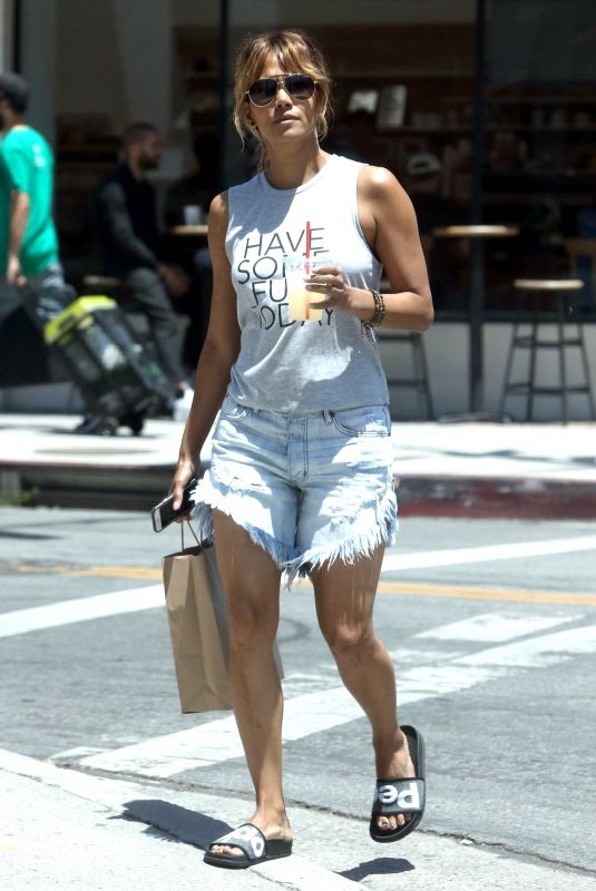 HALLE BERRY Out Shopping in Los Angeles 06/01/2018