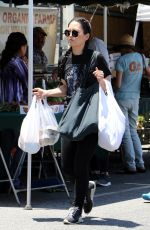 HANA MAE LEE Shopping at Farmers Market in Los Angeles 06/24/2018