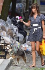 HELENA CHRISTENSEN Out with Her Dog in New York 06/19/2018