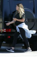HILARY DUFF at a Gas Station in Los Angeles 06/25/2018