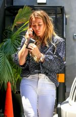 HILARY DUFF Leaves Nine Zero One Salon in West Hollywood 06/01/2018