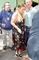 HILARY DUFF Leaves Today Show in New York 06/05/2018