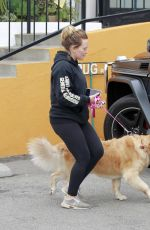 HILARY DUFF Out with Her Dog in Studio City 05/31/2018
