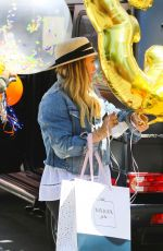 HILARY DUFF Picks up Balloons and Party Supplies at Bonjour Fete in Studio City 06/02/2018