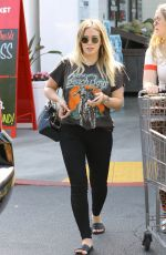 HILARY DUFF Shopping at Bristol Farms in Los Angeles 06/29/2018