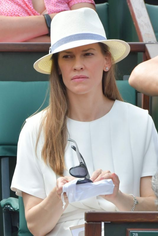 HILARY SWANK at 2018 French Open Tennis Tournament at Roland Garros 06/09/2018