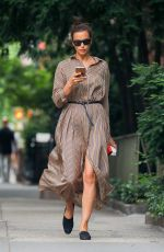 IRINA SHAYK Out and About in New York 06/23/2018