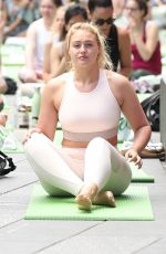 ISKRA LAWRENCE at Yoga Session at Times Square in New York 06/21/2018