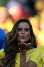 IZABEL GOULART at Serbia vs Brazil Game in Moscow 06/27/2018