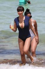 JACKIE CRUZ in Swimsuit on the Beach in Miami 06/17/2018